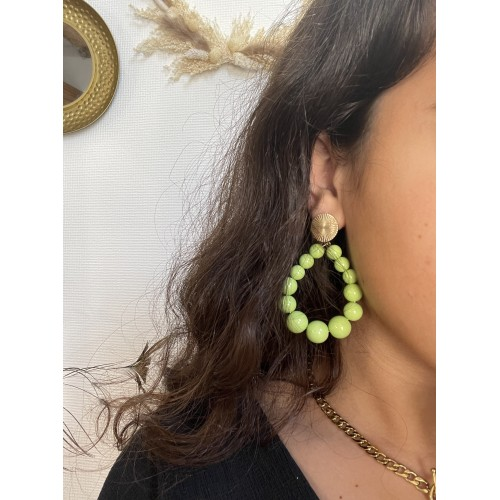 Boucles Charly Vert Pomme