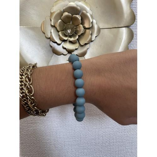 Bracelet Matty Bleu Gris