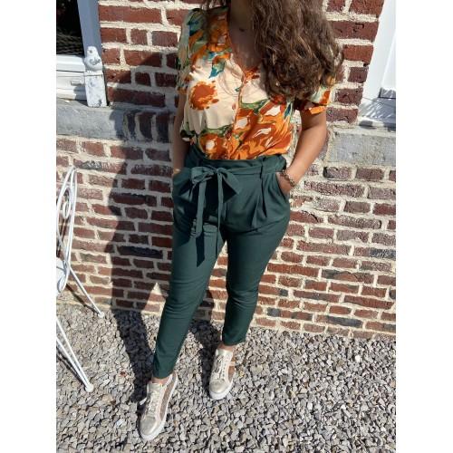 Pantalon Ninon Vert sapin